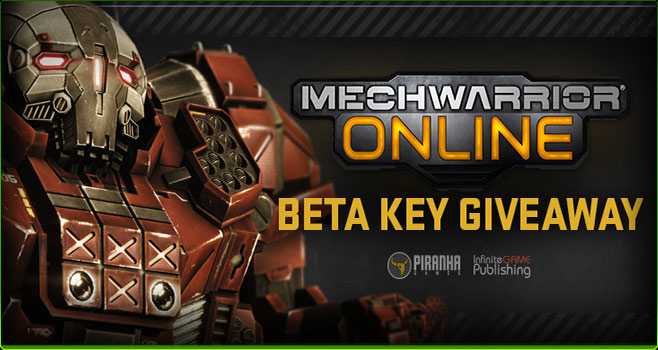 Mechwarrior Online beta key giveaway